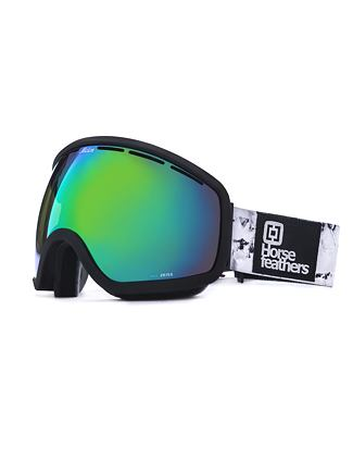 HF x Melon Optics okuliare na snowboard Chief - black birch/green chrome