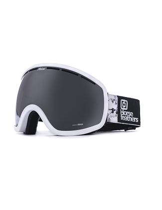 HF x Melon Optics okuliare na snowboard Chief - white birch/silver chrome